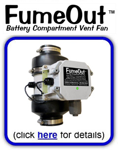 FumeOut Battery Compartment Vent Fan